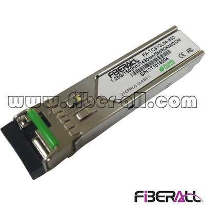 FA-TCS12L54-60D 1.25Gbps SFP Optical Transceiver 1000Base-ZX Fiber Module 1550Tx/1490Rx Single Fiber LC 60KM
