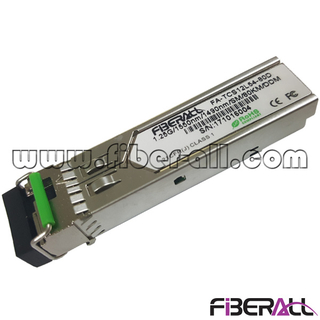 FA-TCS12L54-80D 1.25G Bi-directional Simplex LC SFP Fiber Optic Transceiver Single Mode 80Km DDM 1550Tx/1490Rx