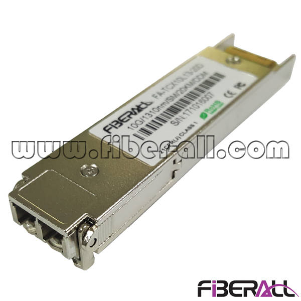 FA-TCX10L13-10D 1310nm Duplex 10Gbps XFP Optical Transceiver With Dual Fiber LC Interface 10KM
