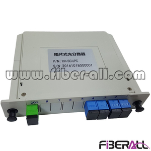 FA-PLCC1×4SP,1x4 PLC Optical Splitter in LGX Box With G657A1 Fiber Pigtail and SC Adapter
