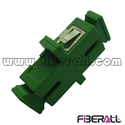 FA-AD-SA1SPC, Single Mode SC/APC Fiber Optic Adapter with Mushroom Dust Cap, Simplex, Plastic, Green