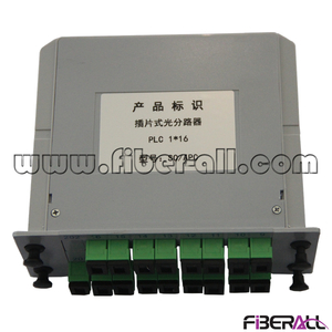 FA-PLCC1×16SA, Low PDL 1x16 LGX Type PLC Splitter with SC/APC Fiber Optic Pigtail and Adapter