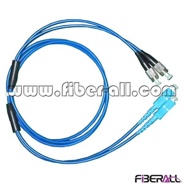 FAPC-SPFPS2A Fan-out Type SC-FC Inner Armored Fiber Optic Patch Cord SM Duplex