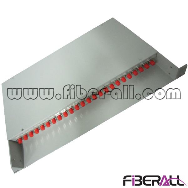 FA-FDF1DM24G-FC,Fixed Type Metal Patch Panel, 24 Ports Rack Mounted Fiber Terminal Box for FC Optical Adapter