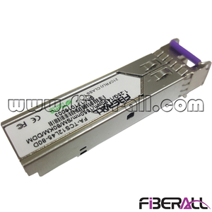 FA-TCS12L45-60D WDM SFP Fiber Optic Transceiver 1.25Gbps 1490/1550nm 60KM LC