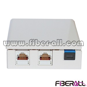 FA-FXFP0403,Wall Mounted FTTH Socket with One SC Simplex Fiber Port and Two RJ45 Ports