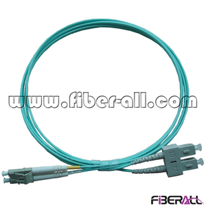 FAPC-SPLPM2O MM OM3 SC/PC-LC/PC Optical Fiber Patch Cord Duplex with Aqua Jacket
