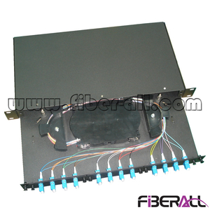 FA-FDR1MD24B-LC Rack Mounted Drawer Type Fiber Optic Patch Panel with 24 LC Pigtail and Duplex Adapter