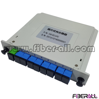 FA-PLCC1×8SU,FTTH Fiber Optic PLC Splitter 1x8 with SC/UPC Connector and Adapter Integrated in LGX Box